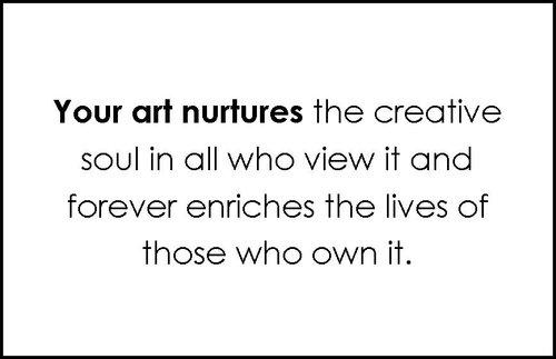 Искусство питает творческую душу